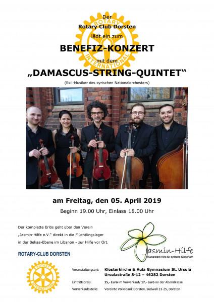 Benefiz-Konzert Rotary Club Dorsten, 5.04.2019