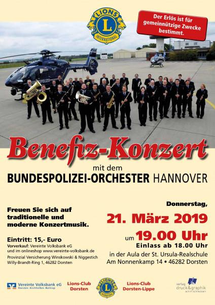 Benefiz-Konzert Lions Club Dorsten, 21.03.2019