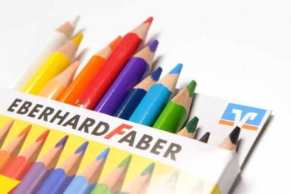 Buntstifte von Eberhard Faber, 12er Papieretui