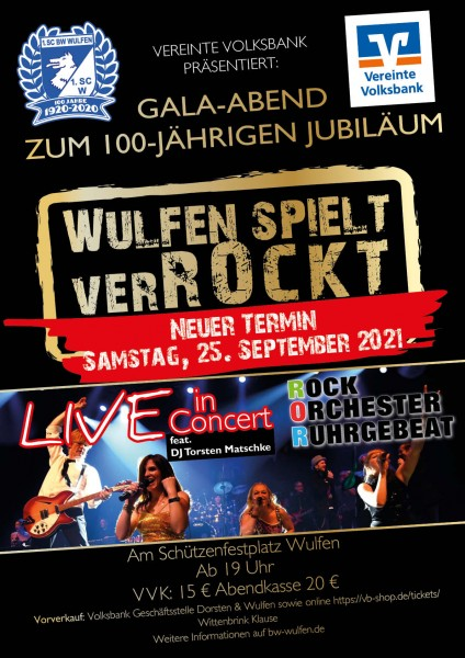 Wulfen spielt VerRockt! - Neuer Termin: 25. September 2021