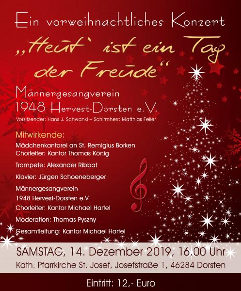 """""""Heut´ ist ein Tag der Freude"""" - Ein vorweihnachtliches Konzert"""