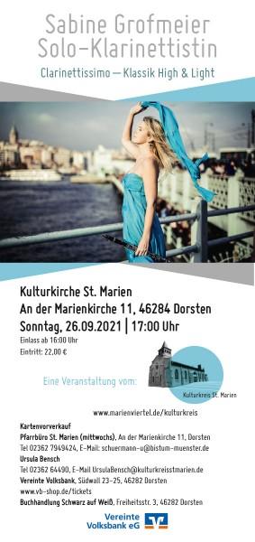 Sabine Grofmeier - Solo-Klarinettistin, 26.09.2021