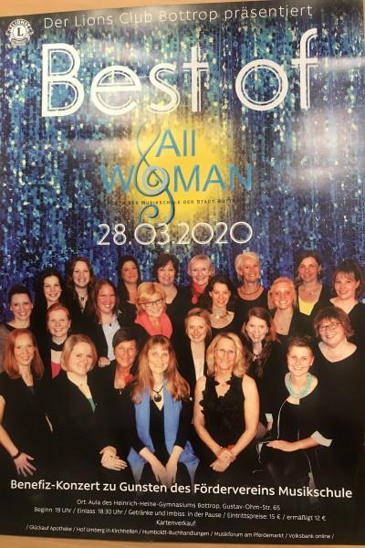 Benefiz-Konzert All Woman - Chor der Musikschule der Stadt Bottrop, 28.03.2020