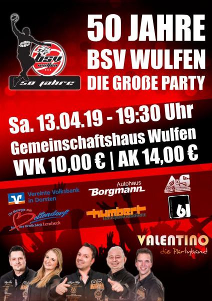 50 Jahre BSV Wulfen, die große Party, 13.04.2019
